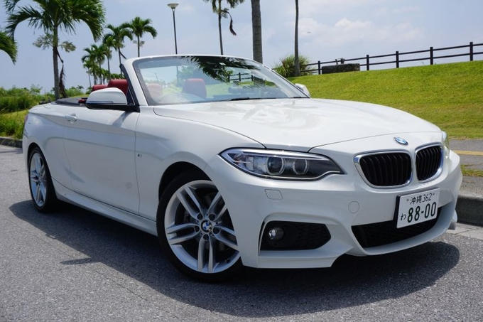 【BMW 2 Series 220i 白 レッドシート】無料個別送迎・迅速出発